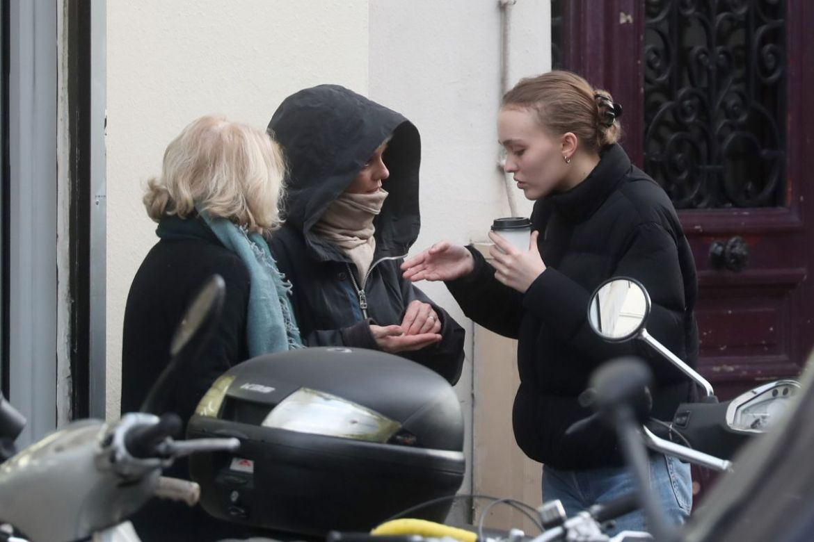 LILY-ROSE DEPP and VANESSA PARADIS Out in Paris 12/19/2018