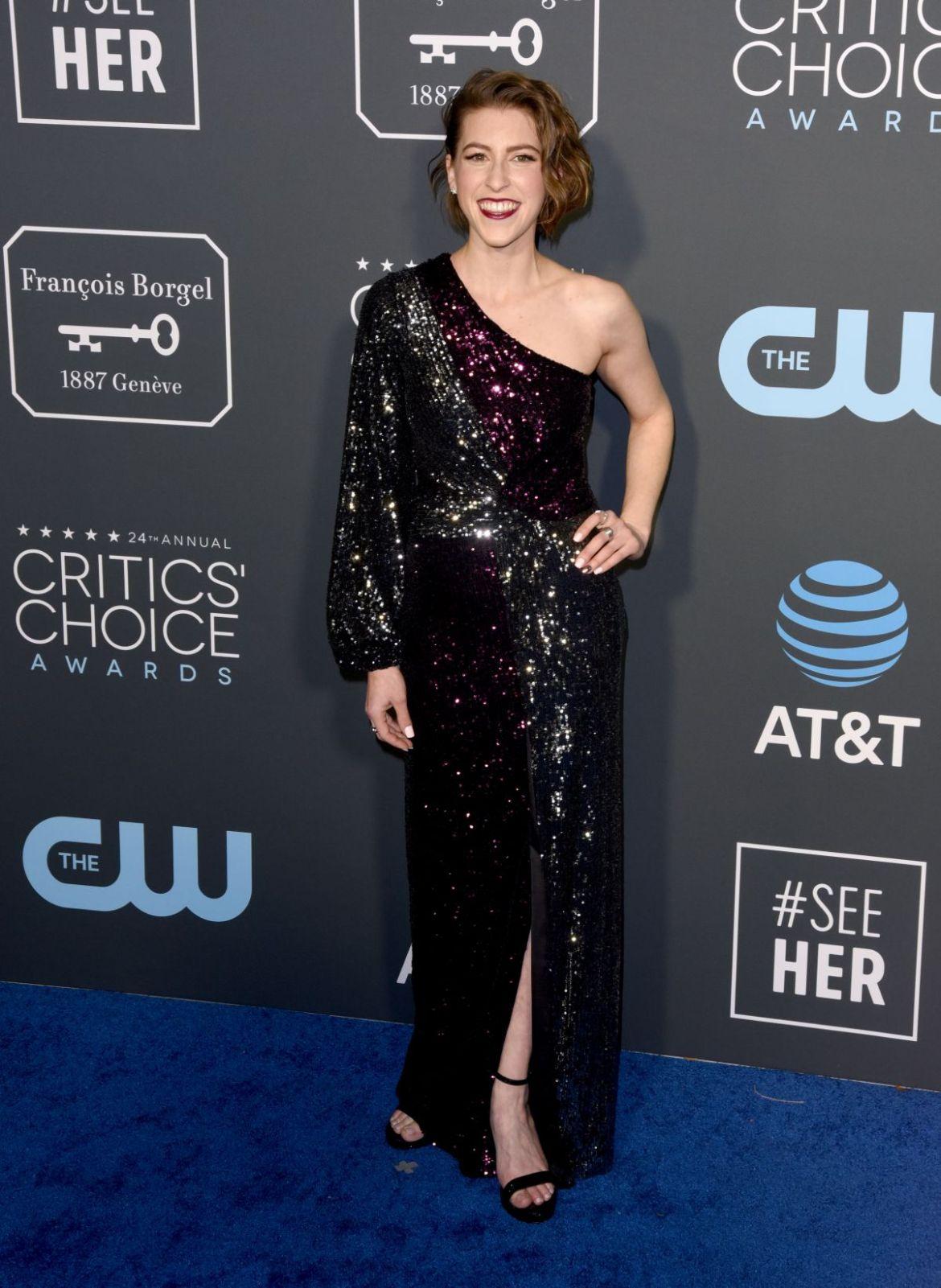 EDEN SHER at 2019 Critics' Choice Awards in Santa Monica 01/13/2019