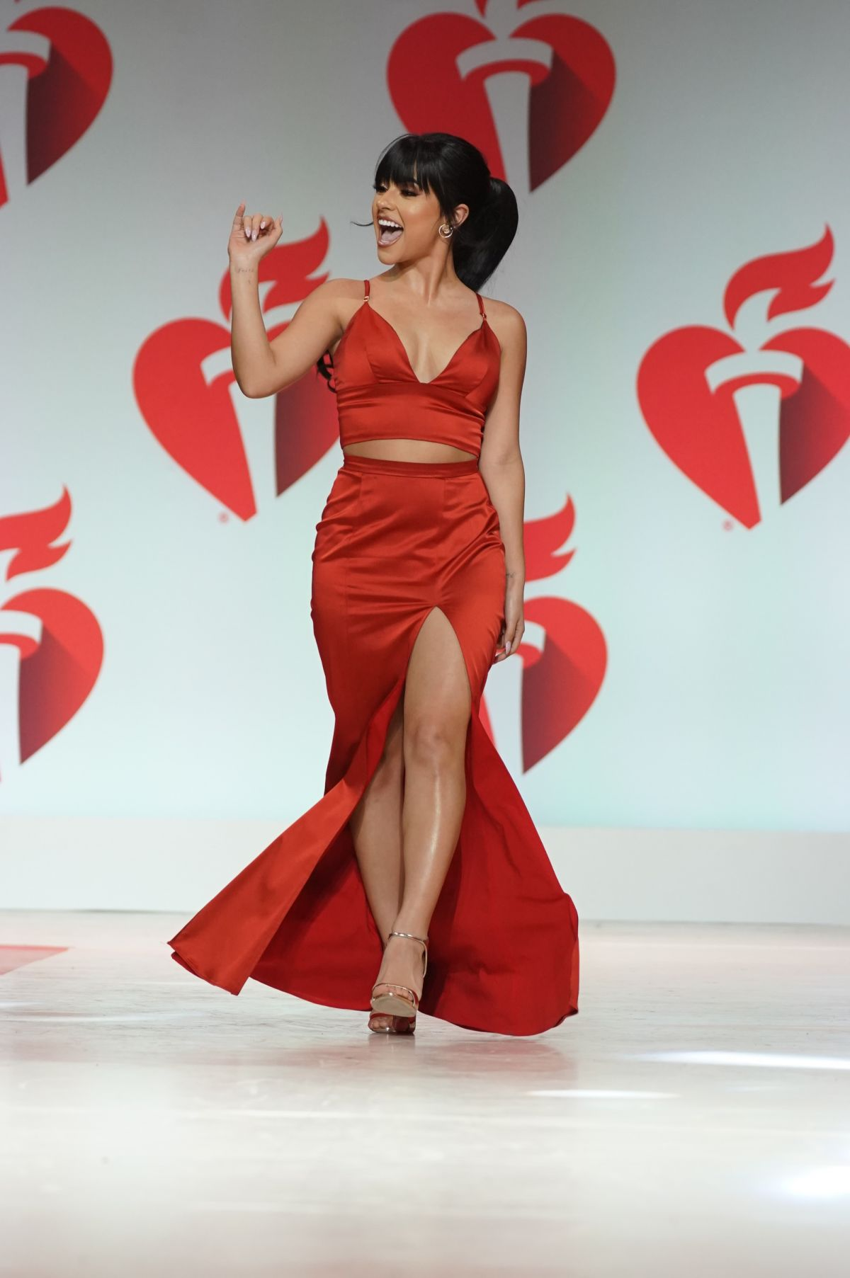 Becky G At Heart Truth Go Red For Women Red Dress