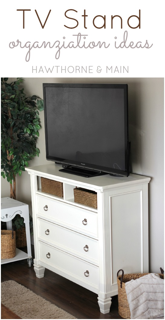 TV Console Table Gets More Storage HAWTHORNE AND MAIN