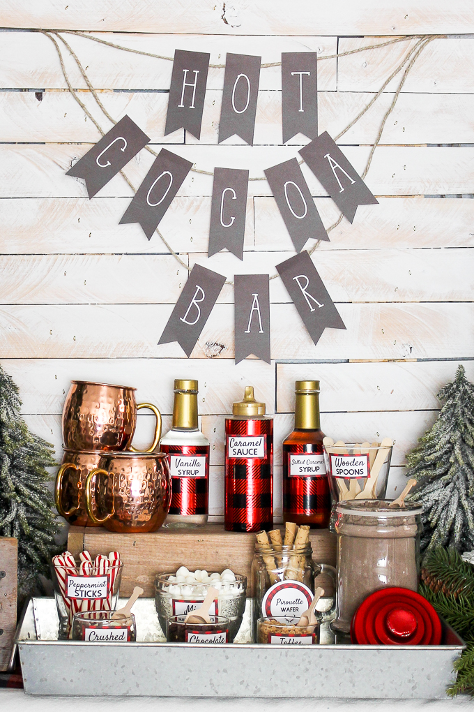 What an awesome hot chocolate bar! I love the printables that she offers too!