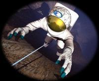 אסטרונאוט במאדים. איור: נאס''א