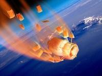 כניסתה של ז'ול ורן חזרה לאטמוספירה. איור: סוכנות החלל האירופאית