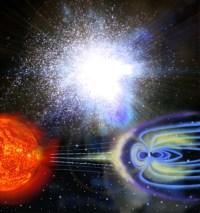 תופעות מגנטיות הצפויות לכאורה ב-2012. איור: universe today