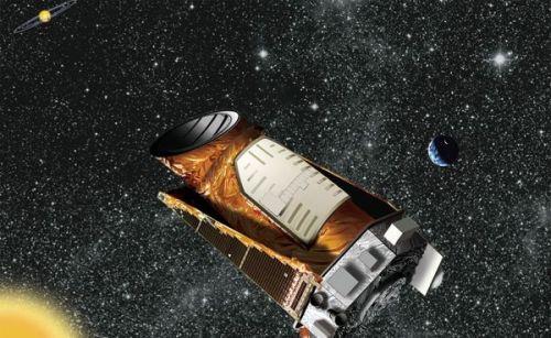 """איור אמן של טלסקופ החלל קפלר שתוכנן לאתר כוכבי לכת מחוץ למערכת השמש. איור: נאס""""א"""