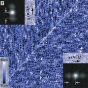 על מוליך מבוסס ברזל - בקוטר 96 ננומטר. איור:אוניברסיטת קורנל