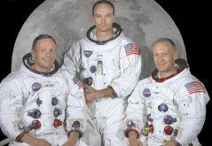 צוות אפולו 11 - חלוצי הנחיתה על הירח. משמאל לימין: ניל ארמסטרונג, מייקל קולין ובאז אלדרין. צילום: נאסא