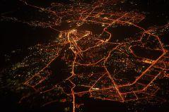 צילום אוויר של העיר הרוסית קאזאן בלילה, מתוך ויקיפדיה
