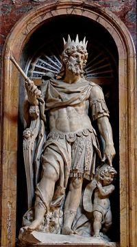 פסל דוד - יצירתו של Nicolas Cordier בבזיליקה של David_SM_Maggiore ברומא