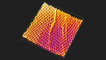 משטח תלת ממדי זה מדגים בקנה מידה ננומטרי את אותם אדוות וקפלים שמדגימות רשתות דייג בקנה מידה מקרוסקופי. צילום: אדם פיינברג, אוניברסיטת הרווארד.