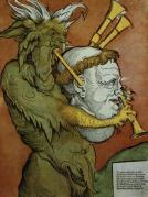 מרטין לותר כחמת החלילים של השטן - תמונה שהפיצה הכנסייה הקתולית במלחמתה בפרוטסטנטיות