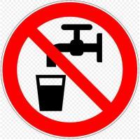 שלט אזהרה מפני מים מסוכנים לשתיה. מתוך ויקיפדיה