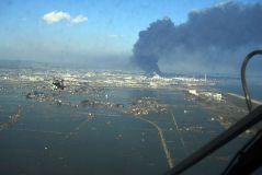 העיר סנדאי לאחר הצונאמי. מקור: wikimedia commons