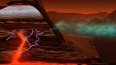 """מתאן על מאדים. איור: נאס""""א"""