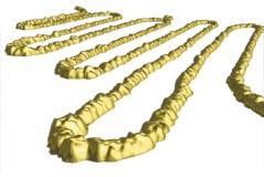 ננו צינור פחמן מצופה זהב. צילום: מכון ויצמן