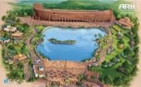 """עלון המתאר את פארק השעשועים המבוסס על סיפור תיבת נוח הנבנה בקנטאקי. תמונת יח""""צ"""