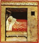 נדודי שינה, איור מהמאה ה-14. מתוך ויקיפדיה