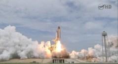 """רגע השיגור - אטנלטיס ממריאה בפעם האחרונה בהחלט. מתוך השידור באתר נאס""""א"""
