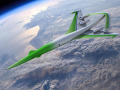 מטוס ירוק ידידותי לסביבה. דגם של מטוס נוסעים על-קולי. צילום: NASA Images