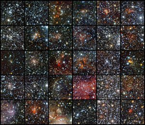 צבירים פתוחים חדשים שהתגלו. צילום: המצפה האירופי הדרומי (ESO)