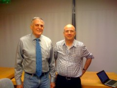 פרופ' דן שכטמן ועורך אתר הידען אבי בליזובסקי, 5/10/2011