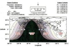 """מפת ליקוי הירח ב-10 בדצמבר 2011. איור: נאס""""א"""