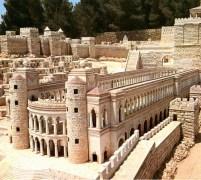 הקירקוס (היפודרום) שבנה הורדוס בירושלים על פי הדגם המוקטן של הבית השני במוזיאון ישראל, ירושלים