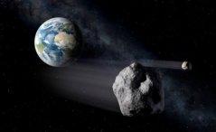 הדמיית אמן של אסטרואיד קרוב ארץ. איור: ESA - P.Carril