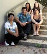 """למעלה, מימין: ד""""ר גליה אוברקוביץ ולידיה ורביוב; למטה, מימין: מריה מריאנוביץ, פרופ' איתן גרוס וד""""ר יהודית זלצמן. במקום הנכון"""
