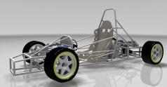 """דגם רכב חשמלי שפיתחו סטודנטים במכללת אפקה, לקראת מירוץ מכוניות מסוג זה. צילום יח""""צ"""