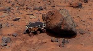 """רכב השטח המאדימאי הזעיר פת'פיינדר. איור: נאס""""א"""