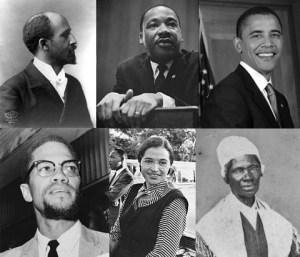 מקבץ של אמריקנים מפורסמים ממוצא אפריקאי. מתוך ויקיפדיה