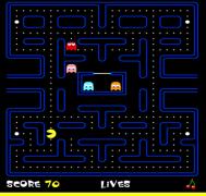 תמונה 3: צילום מסך של משחק פאקמן מהאתר הזה.