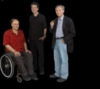 מימין: פרופ' גיורא מיקנברג, פרופ' עילם גרוס ופרופ' אהוד דוכובני. מסע ארוך