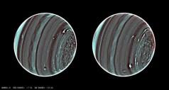 תמונות חדשות באיפנרה אדום של כוכב הלכת אורון-אורנוס מראות פרטים שלא נראו עד כה. צילום: NASA/ESA/L. A. Sromovsky/P. M. Fry/H. B. Hammel/I. de Pater/K. A. Rages