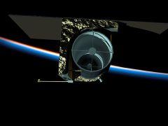 דגם של טלסקופ החלל ארקיד 100 שמפתחת חברת Planetary Resources לאיתור אסטרואידים בעלי פוטנציאל לכריית מחצבים. מתוך ויקיפדיה