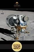 נחתת גולדן ספייק על הירח. איור: חברת גולדן ספייק