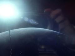 כדור הארץ כפי שנראה מהמסלול הגבוה של ג'מיני-11 בשנת 1966. כך יכול היה להיראות הנוף של הצוות רגע לפני הפעלת המנוע שיוציא אותם למשימת מעבר קרוב משולש. Credit: NASA