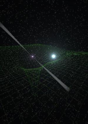 """הפולסר PSR J0348+0432 system. צילום: נאס""""א"""