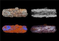 מחרוזות שנמצאו במצרים, העשויות ממטאוריט עשיר בברזל. צילום: האוניברסיטה הפתוחה של בריטניה