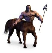 קנטאור, יצור הבירדי של אדם וסוס במיתולוגיה היוונית. איור: shutterstock