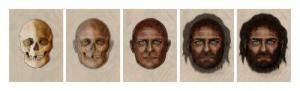 שיחזור מראהו של אדם שחי לפני 7,000 שנה בספרד. איור: המועצה המדעית הלאומית של ספרד (CSIC)