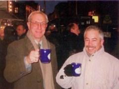 """ד""""ר טרטקובסקי (מימין) עם פרופסור יורם זבירין ז""""ל"""