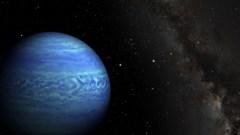 הדמית אמן של הננס החום WISE J085510.83-071442.5. השמש היא הכוכב הבהיר הנמצאת ממש לימינו של הננס החום. איור: רוברט הארט מ-JPL, ג'אנלה וויליאמס מאוניברסיטת מדינת פנסילבניה