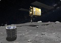 החללית היאבוסה 2. איור: סוכנות החלל היפנית JAXA