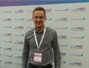 "אבלדאס פברצה, מנכ""ל חברת 'Integrated Optics' בכנס Life Sciences Baltics 2014. צילום: אבי בליזובסקי"