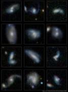 כמה מאלפי הגלקסיות המתמזגות שזוהו בסקר גאמא. צילום: סיימון דרייבר וארון רובותהם, ICRAR.