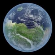 """איור אמן של """"מאדים החי"""" איור קווין גיל, נאס""""א"""