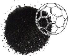 מולקולות של פחמן-60, הידועות גם בשם כדורי בקי, שולבו יחד עם אמינים לקבלת תרכובת הסופגת פחמן דו-חמצני, שהוא גז חממה, בכמות השווה לחמישית ממשקלה. החומר הוא בעל פוטנציאל לשמש כפתרון ידידותי לסביבה ללכידת פחמן מהפליטות שמקורן בבארות גז טבעי וארובות מפעלי תעשייה. [באדיבות Barron Research Group]