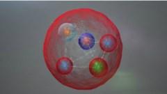 חיבור של בריון ומזון מניב חלקיק בעל חמישה קווארקים. איור: CERN